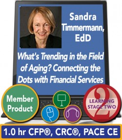 Timmermann – What's Trending in the Field of Aging? Connecting the Dots with Financial Services