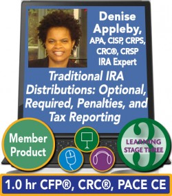 Appleby – Traditional IRA Distributions: Optional, Required, Penalties, and Tax Reporting