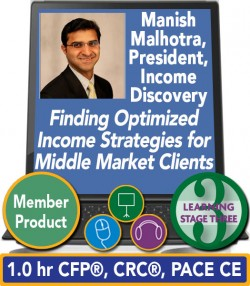 Malhotra – Finding Optimized Income Strategies for Middle Market Clients